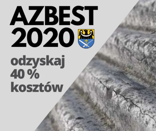 plakat azbest 2020