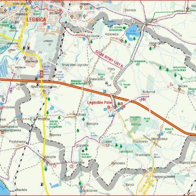 mapa gminy Legnickie Pole