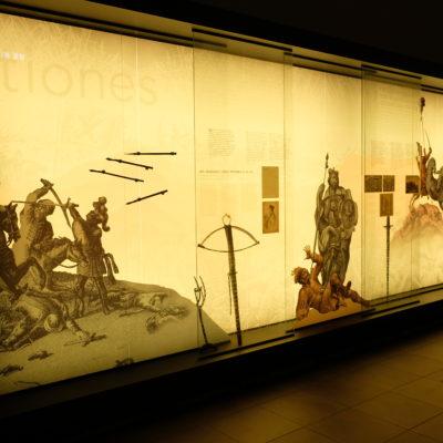 wnętrze muzeum bitwy legnickiej