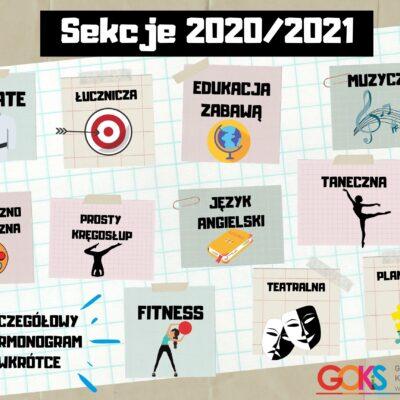 plakat sekcje tematyczne na 2020-2021