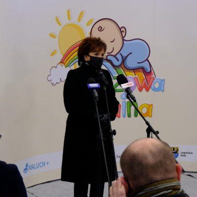 Zdjęcie prezentujące przemówienie Marszałek Sejmu