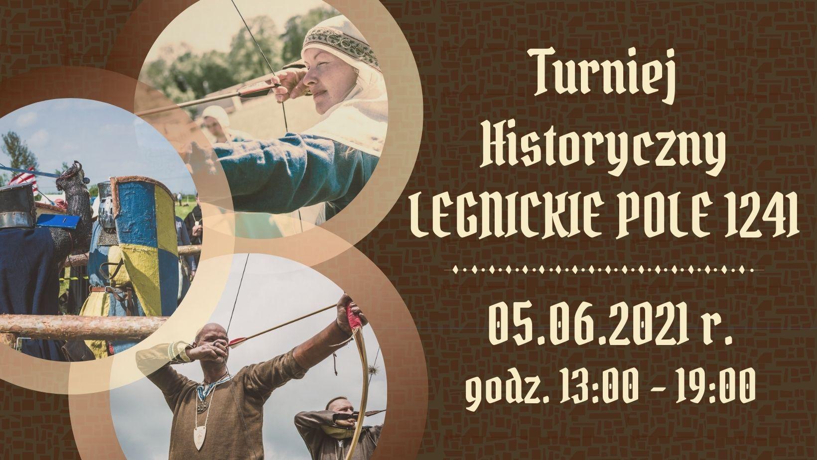 plakat odnośnie wydarzenia turniej historyczny legnickie pole 1241